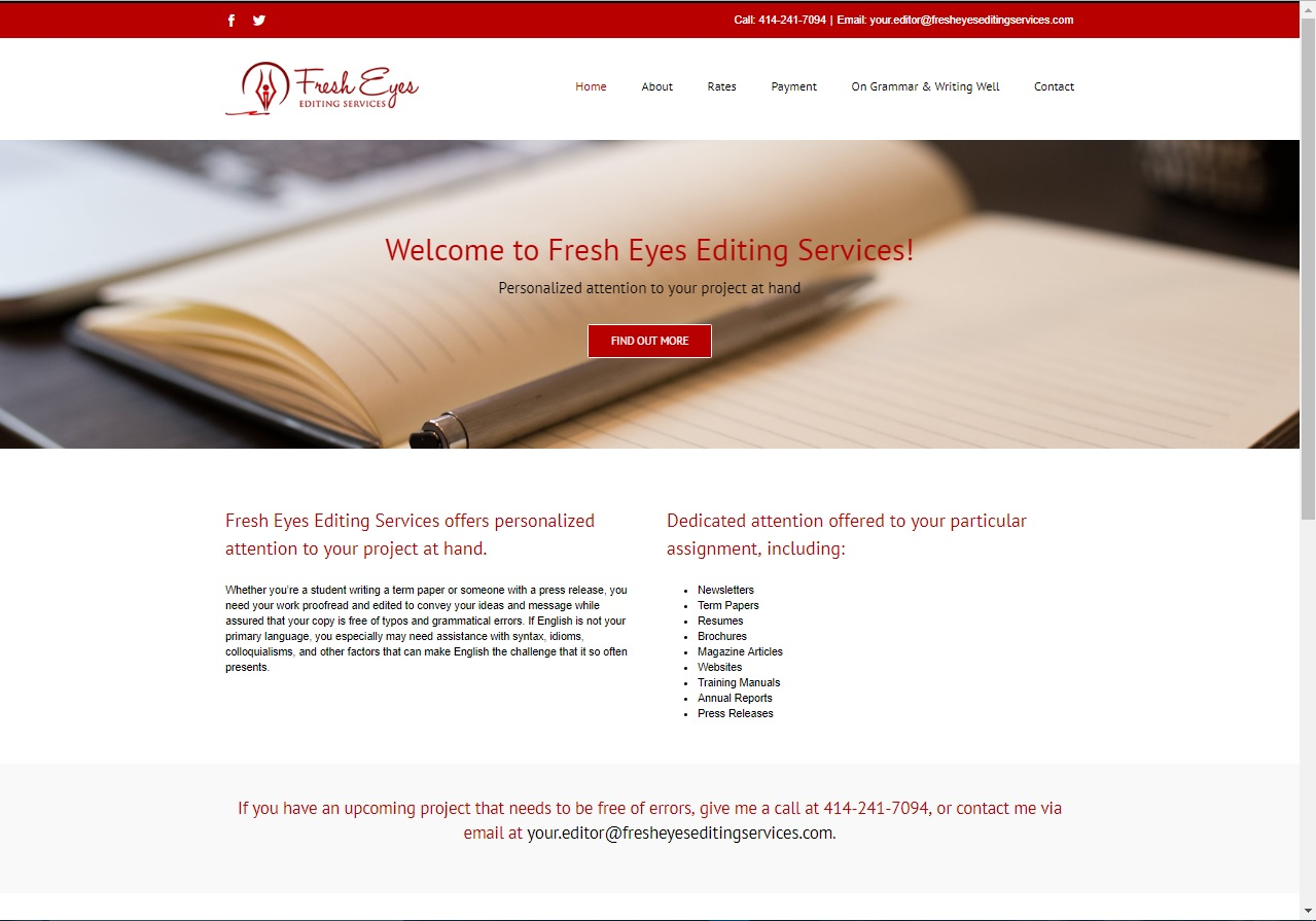 Editing services fees